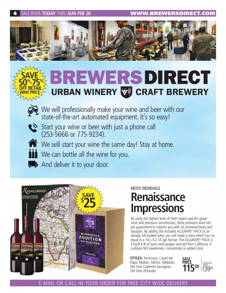 Jan 2021 Newsletter Brewers Direct