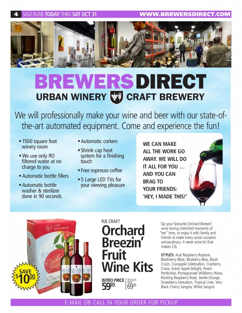 Oct 2020 Newsletter Brewers Direct
